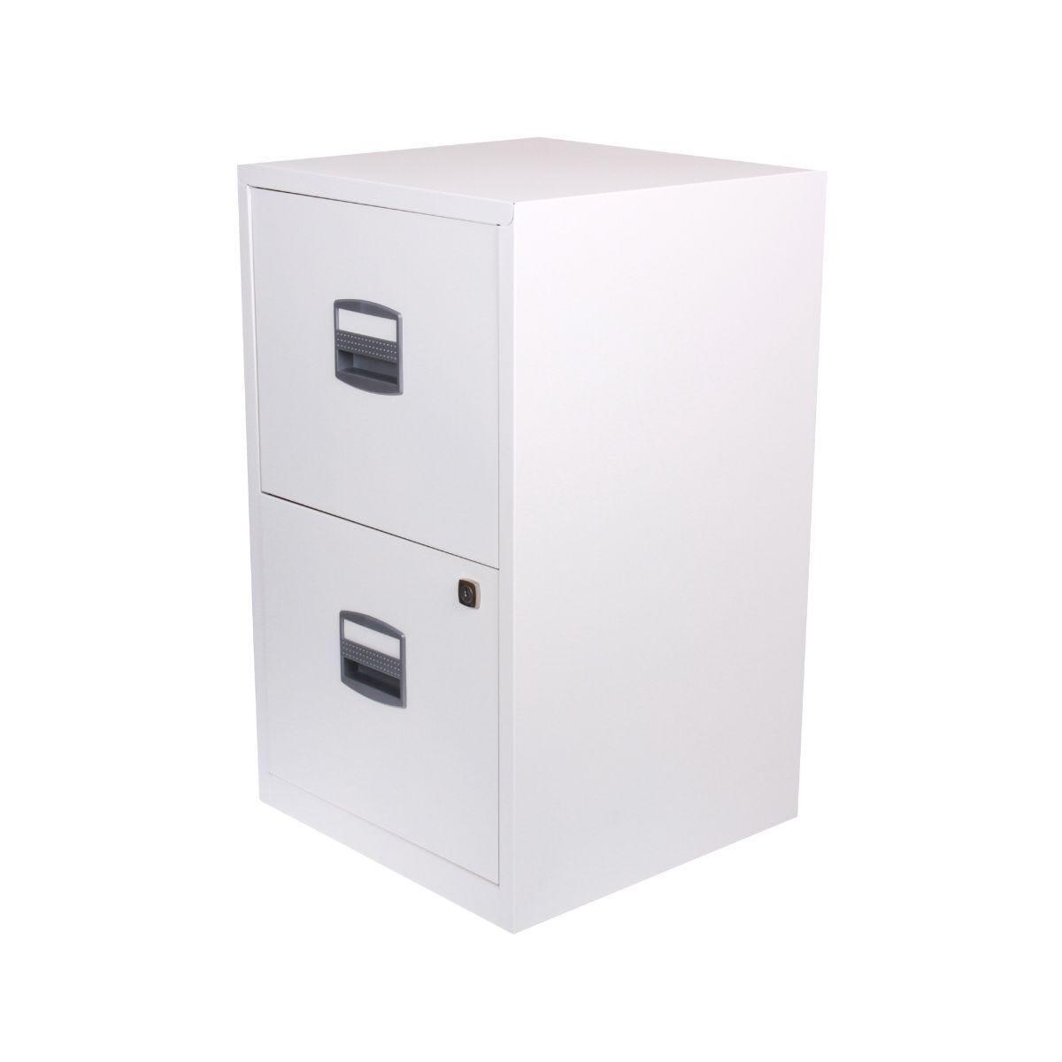 Bisley Metal Filing Cabinet 2 Drawer A4 Chalk White