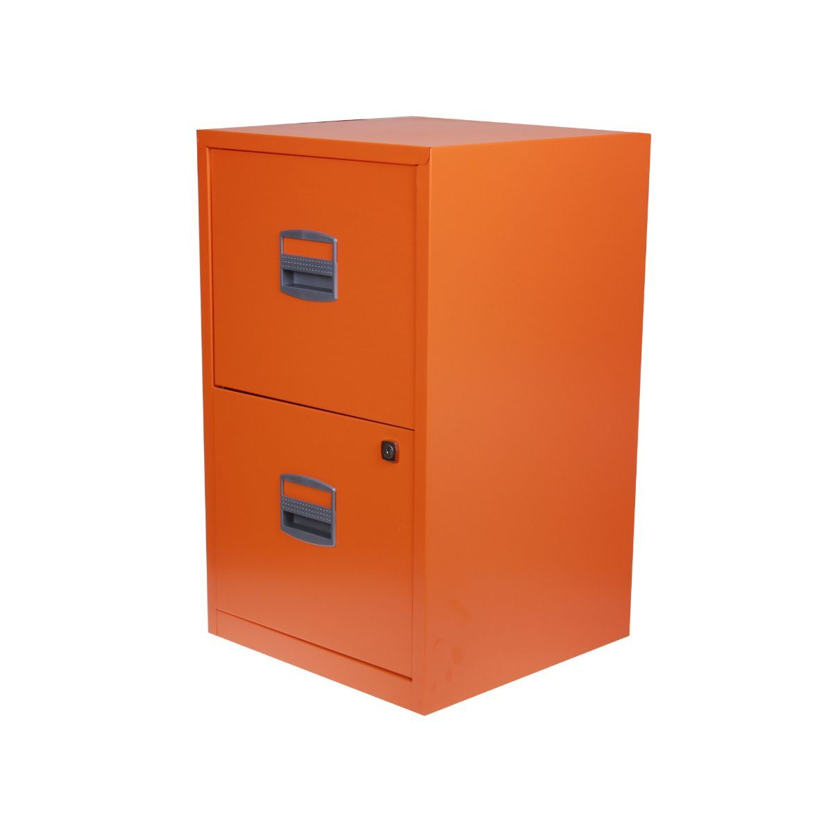 Bisley Metal Filing Cabinet 2 Drawer A4 Orange
