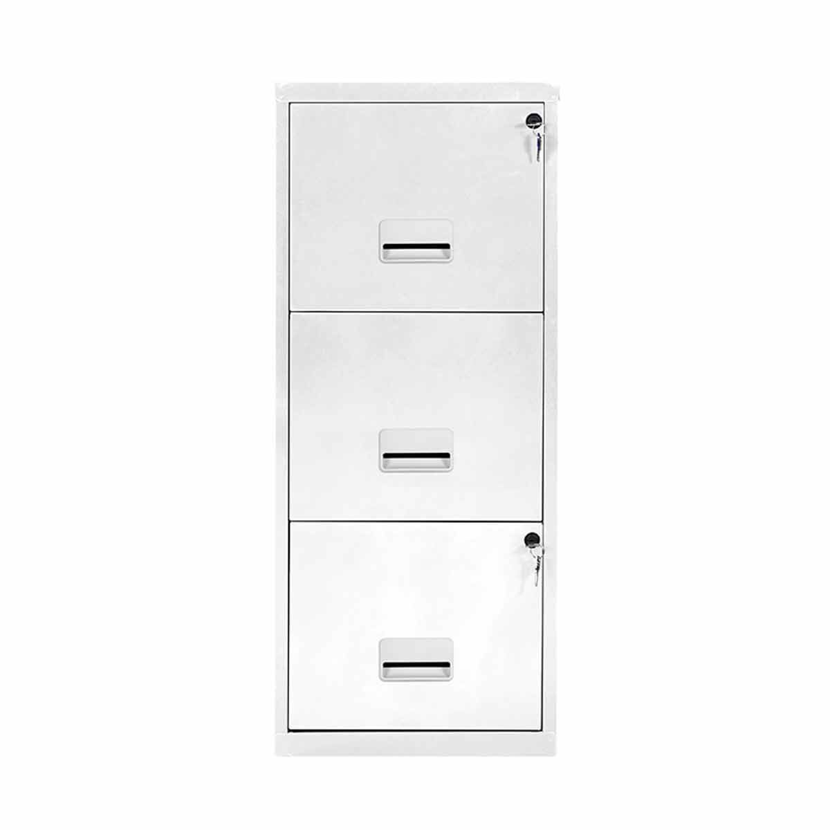 Pierre Henry A4 3 Drawer Maxi Filing Cabinet Bright White