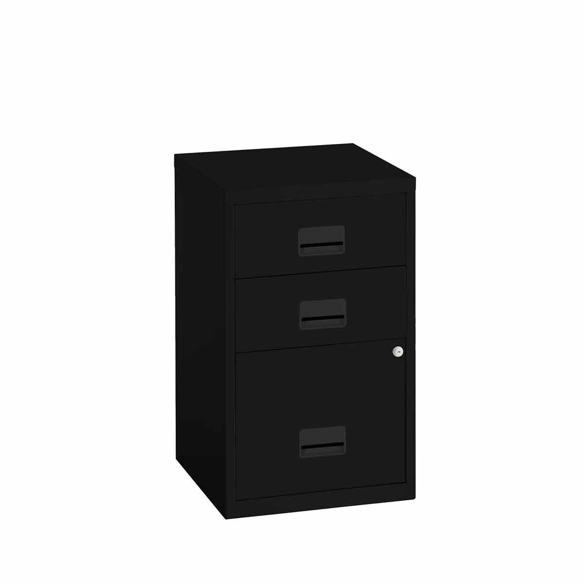 Pierre Henry 3 Drawer Combi Filing Cabinet A4 Black