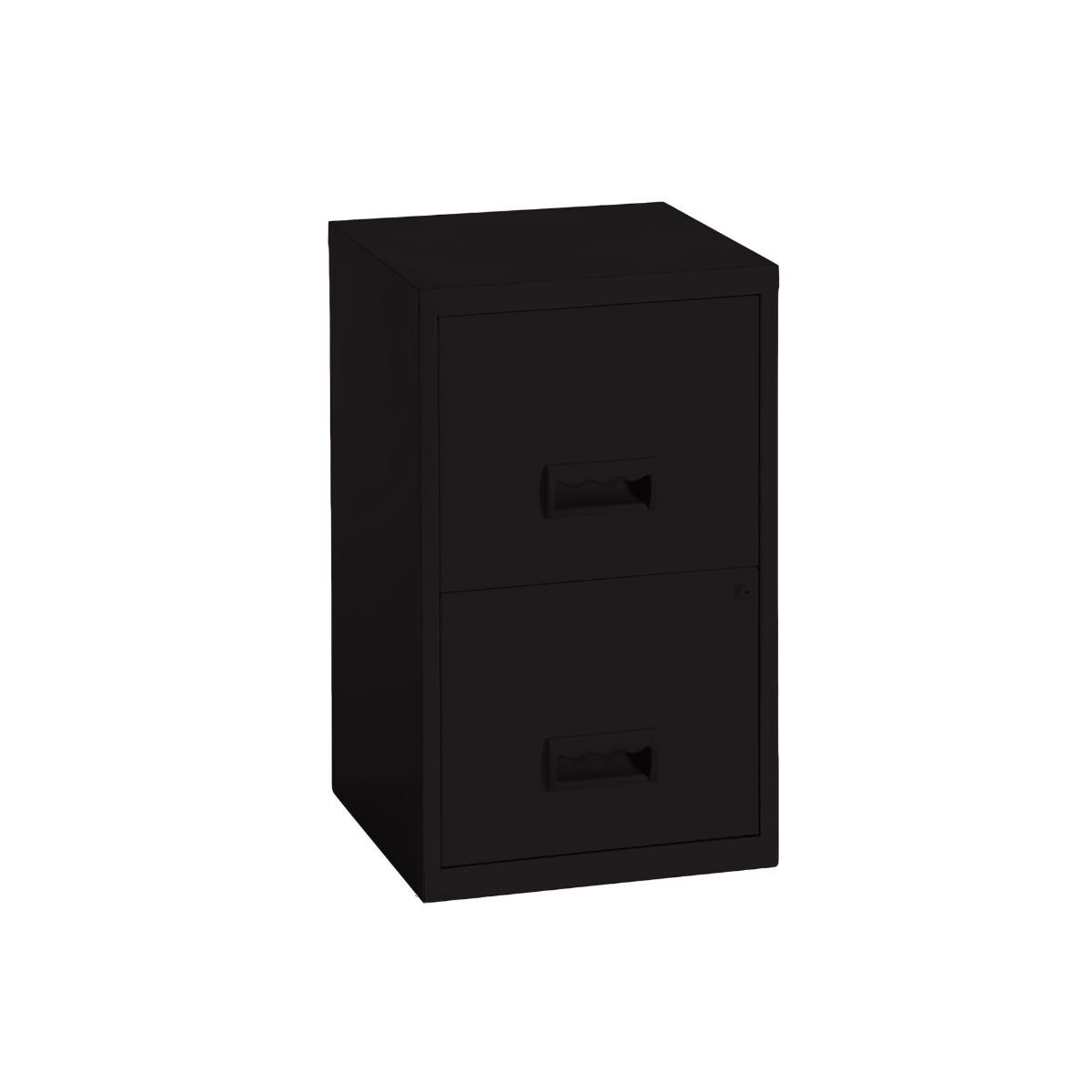 Pierre Henry Metal 2 Drawer Maxi Filing Cabinet A4 Black