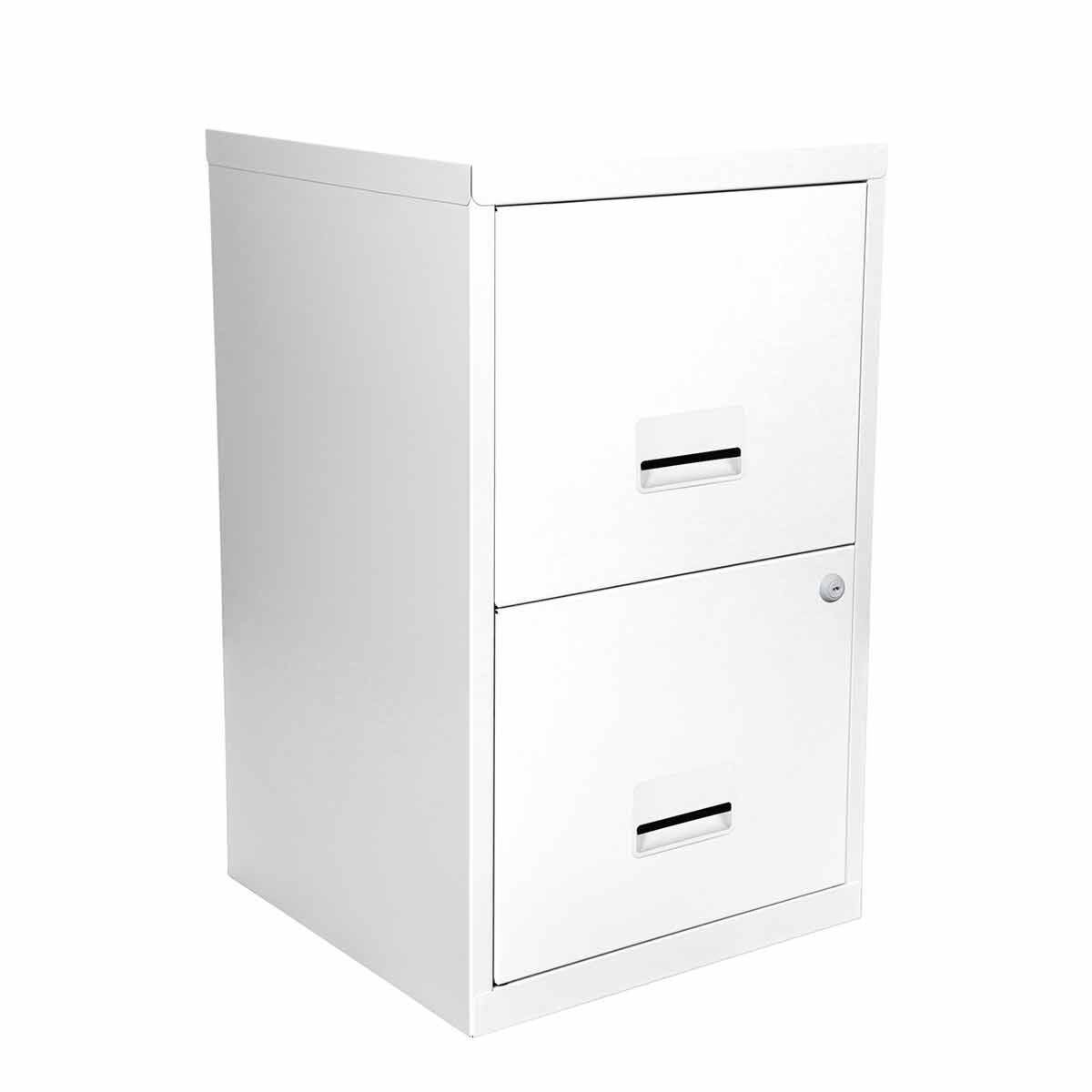 Pierre Henry Metal 2 Drawer Maxi Filing Cabinet A4 Bright White