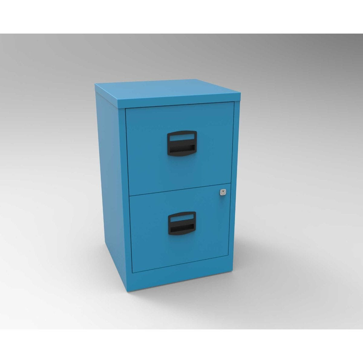 Bisley Metal Filing Cabinet 2 Drawer A4 Azure