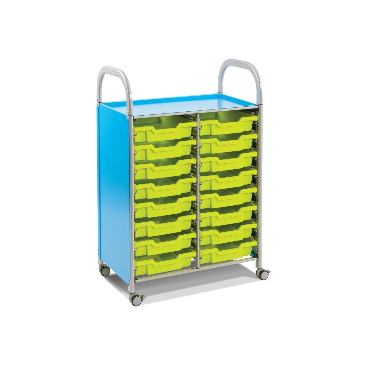 Callero Double Column Unit With 16 Shallow Trays