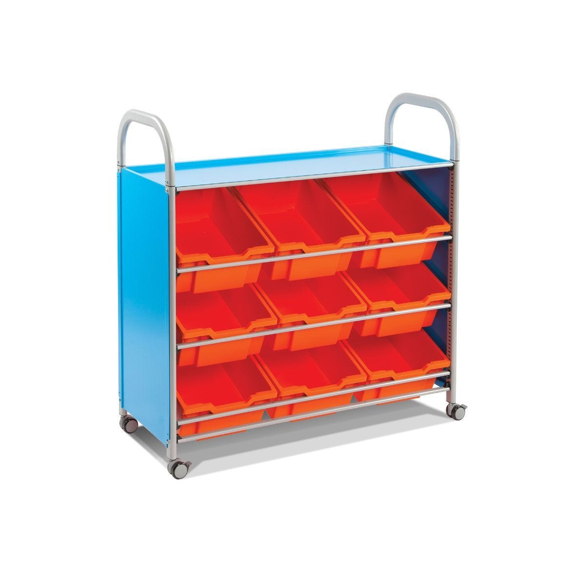 Callero Tilted Shelf Unit With 9 Deep Trays