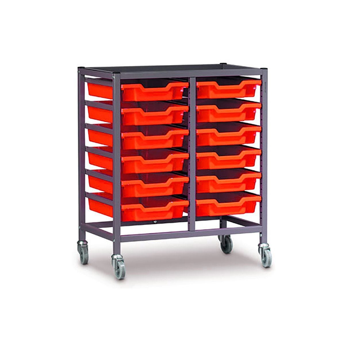Gratnells Double Column Trolley 12 Tray