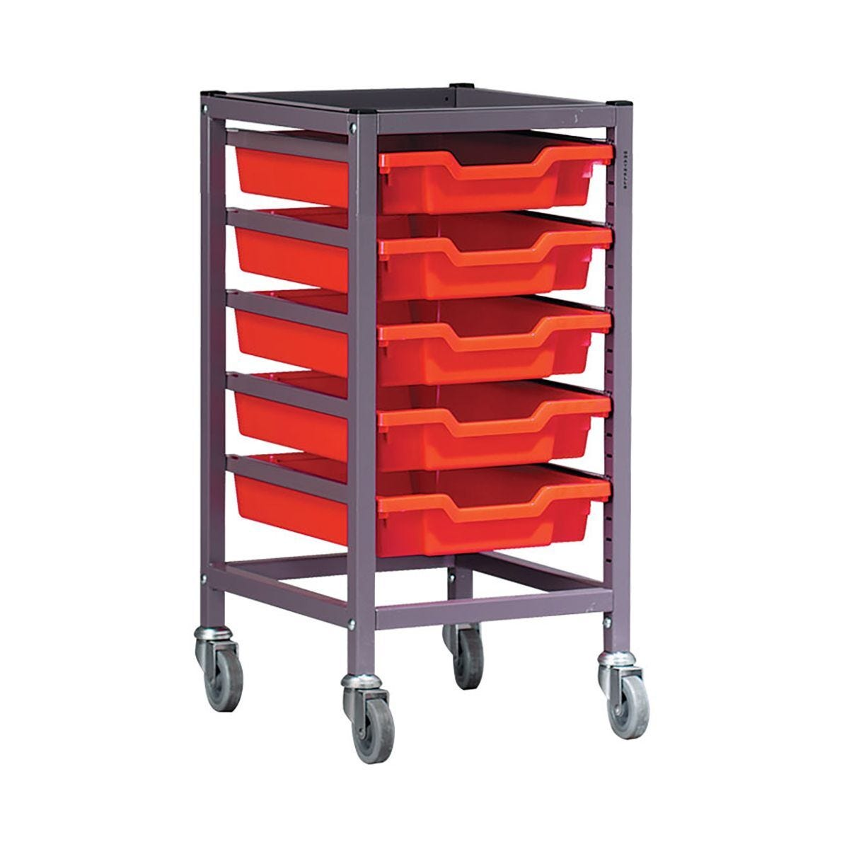 Gratnells Single Column Trolley 5 Tray