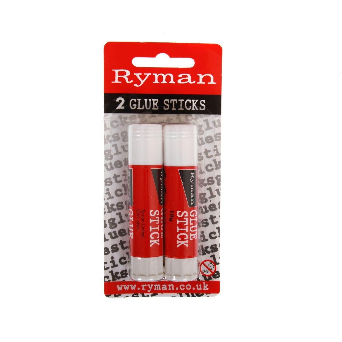 Ryman Coloured Glue Stick 10g Pack of 2