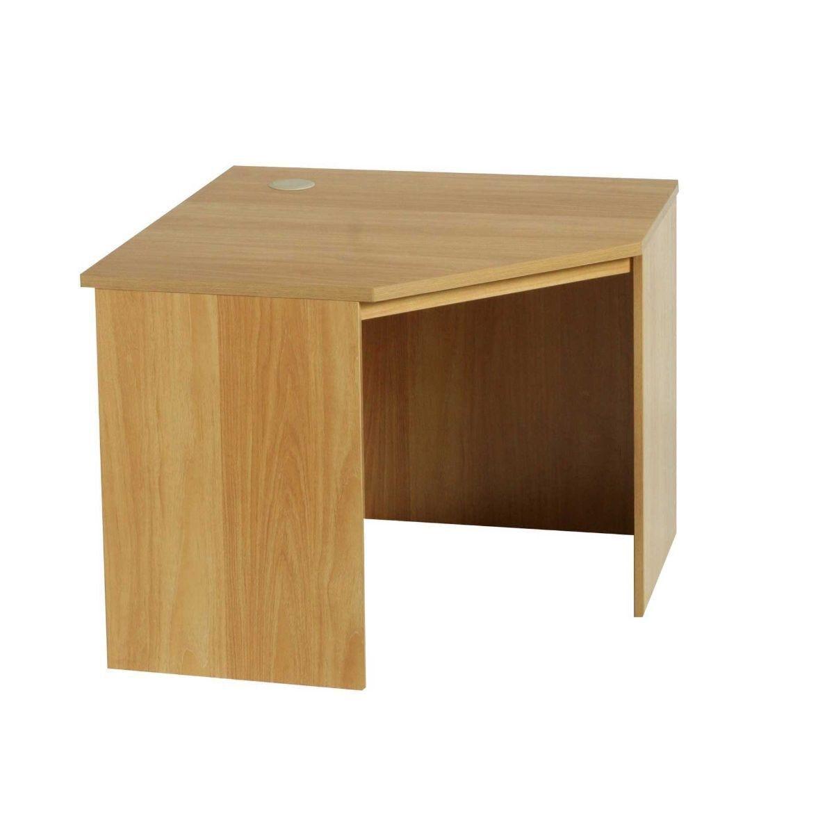 R White Corner Desk B-CDK H728xW940xD540mm English Oak
