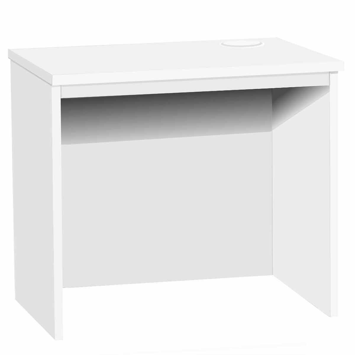 R White Medium Desk 850mm Wide White
