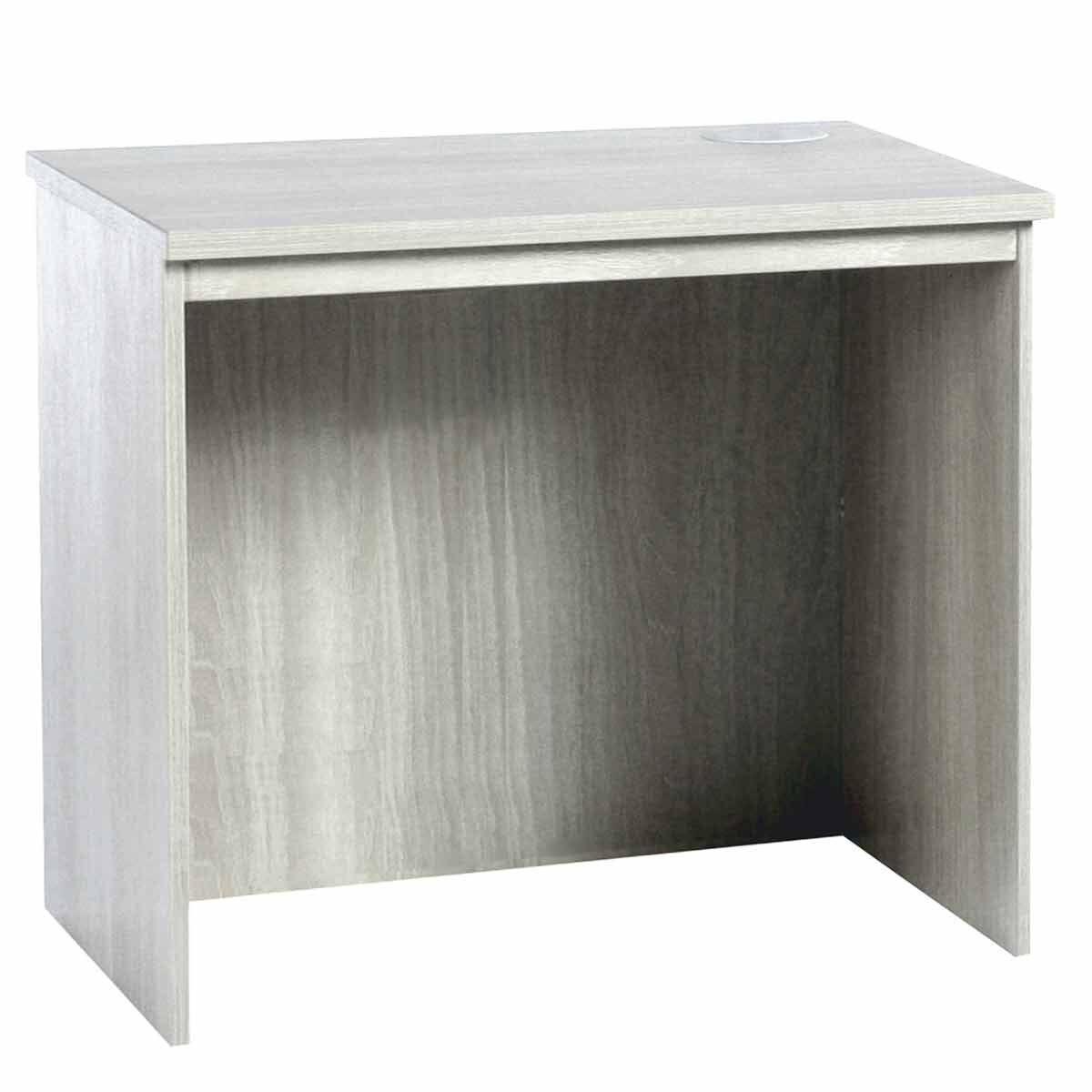 R White Medium Desk 850mm Wide Grey Nebraska