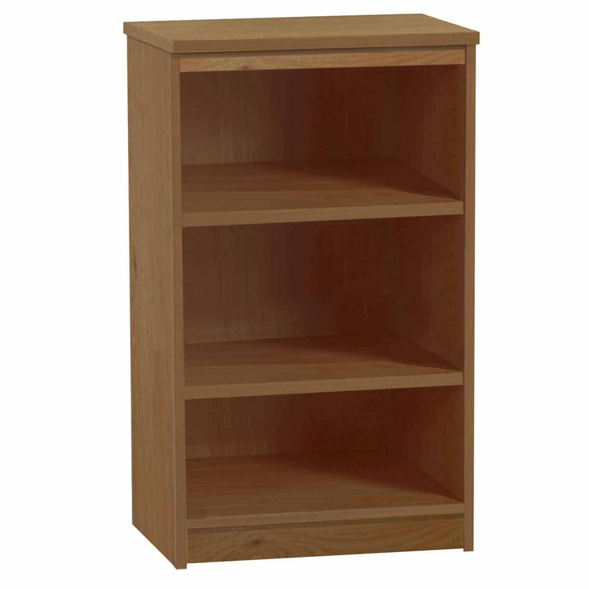 R White Mid Height Bookcase 600mm Wide English Oak
