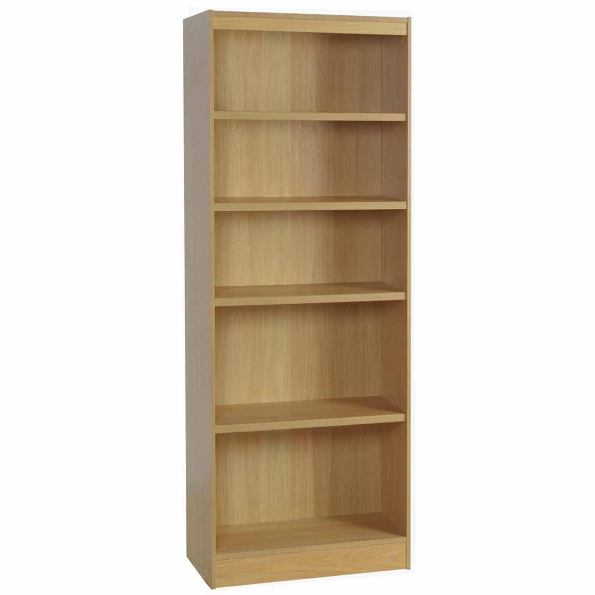 R White Tall Bookcase 600mm Wide Classic Oak
