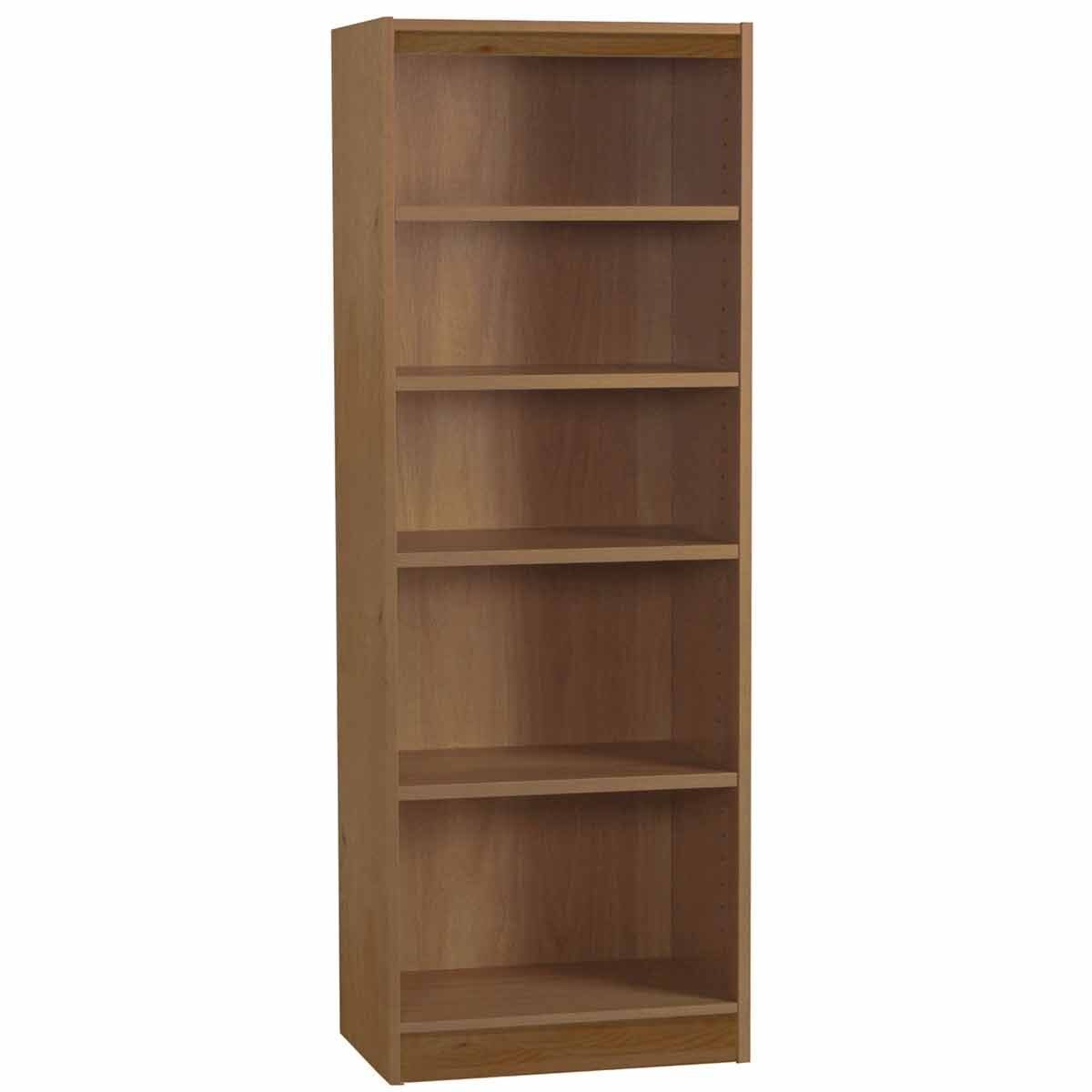 R White Tall Bookcase 600mm Wide English Oak