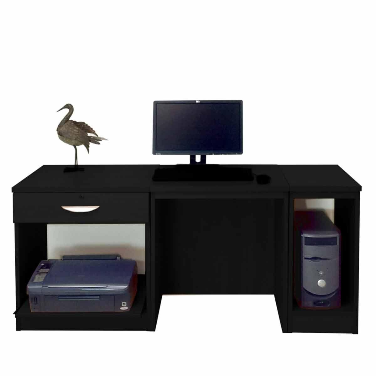 R White Home Office Furniture Desk Black Havana
