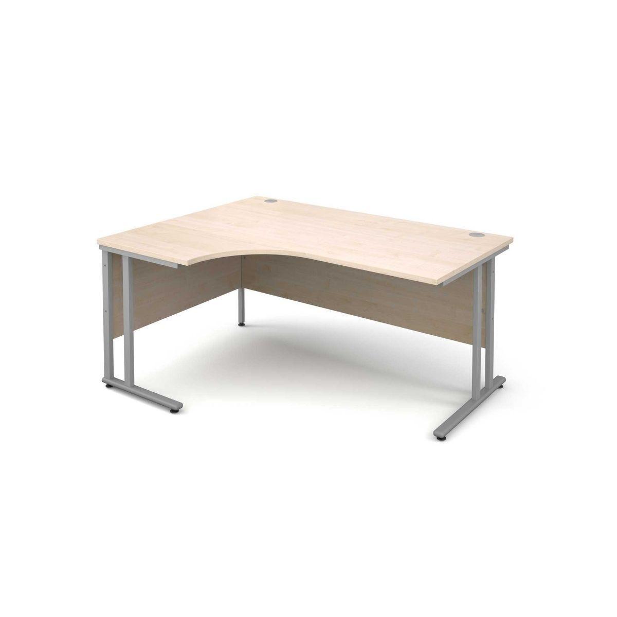 Maestro 25 Left Hand Ergonomic 1600 Desk with Silver Legs