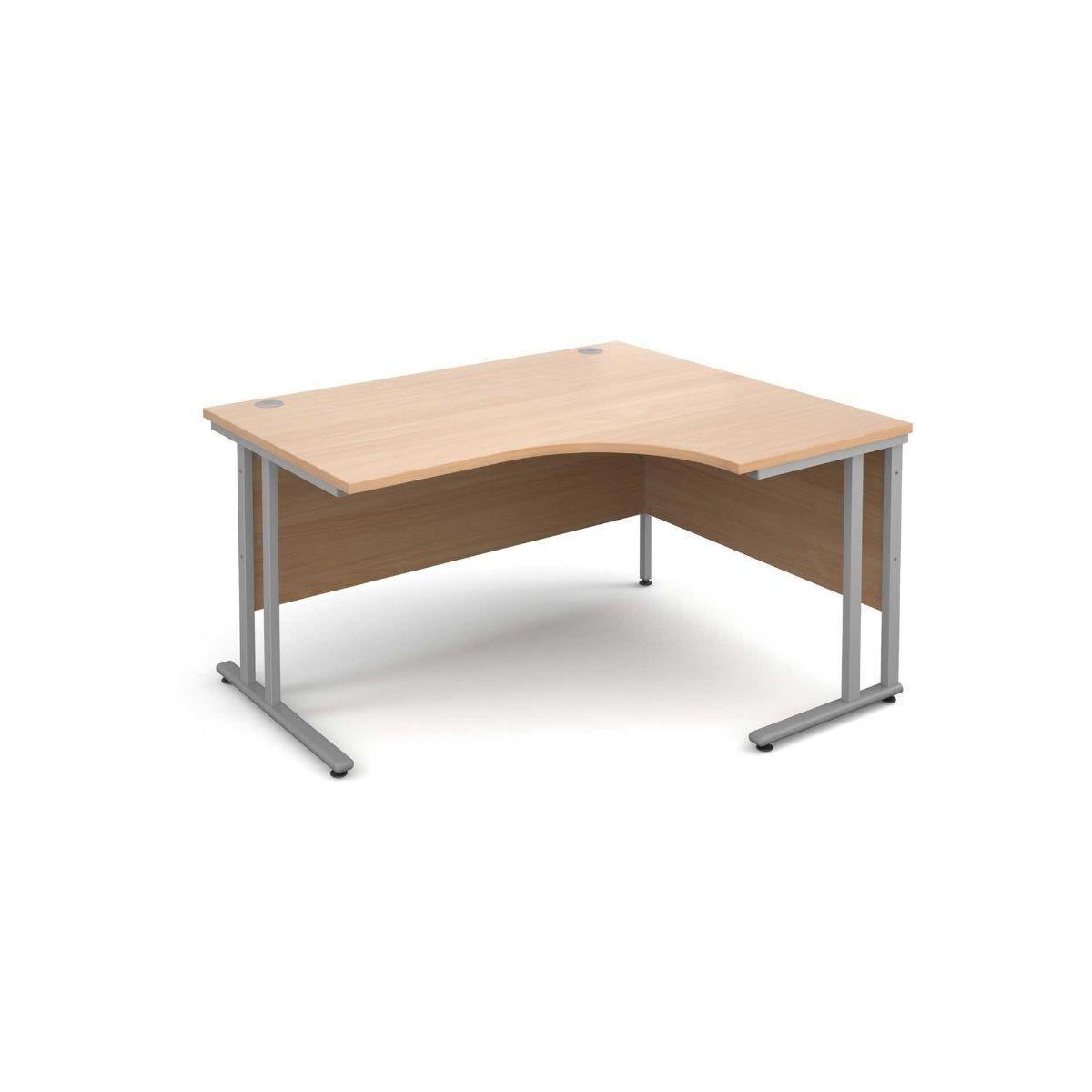 Maestro 25 Right Hand Ergonomic 1400 Desk with Silver Legs