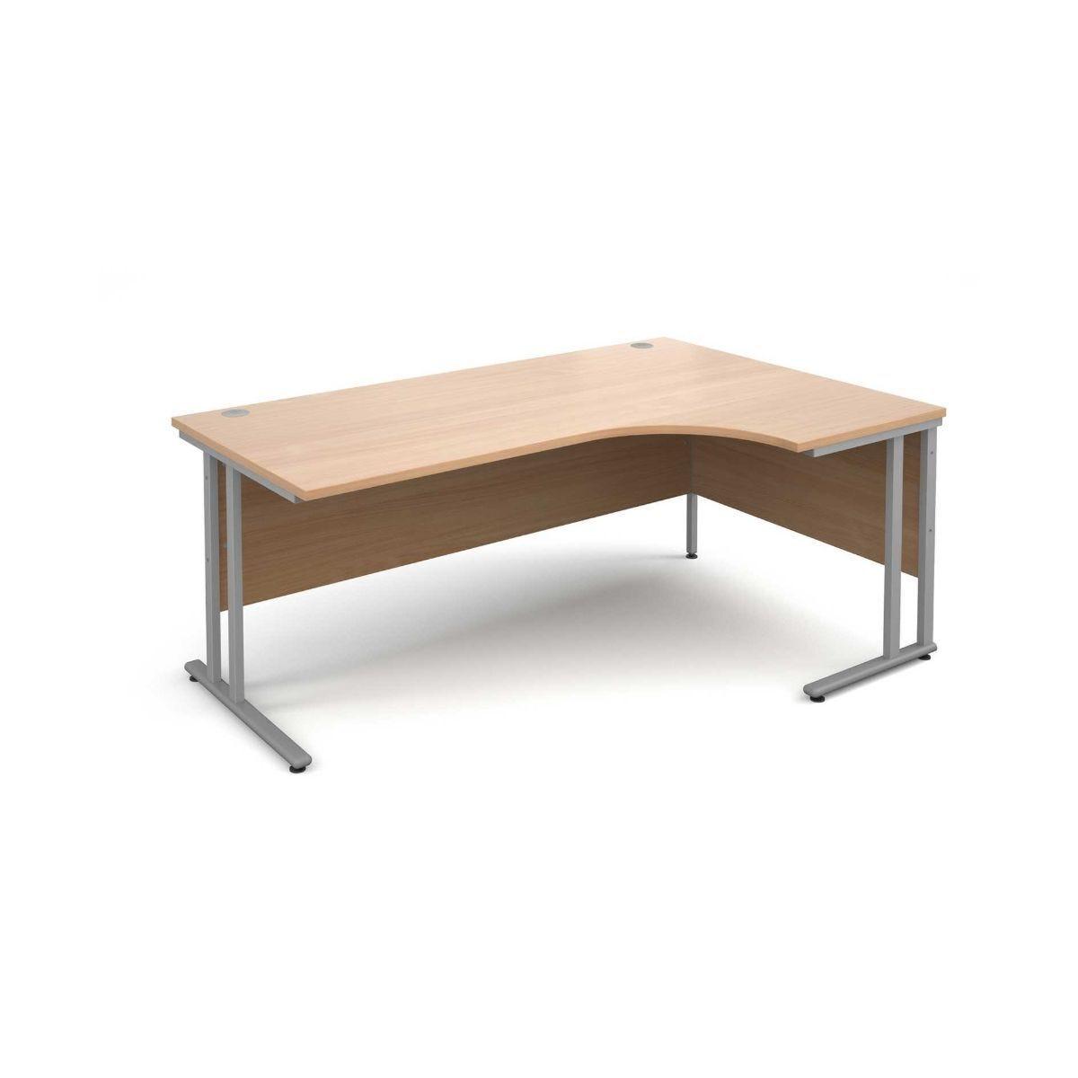 Maestro 25 Right Hand Ergonomic 1800 Desk with Silver Legs