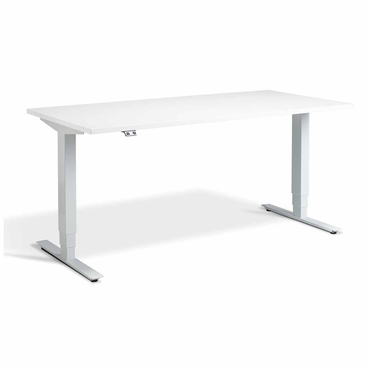 Lavoro Advance Dual Motor Height Adjustment Desk White Frame 1200 x 800