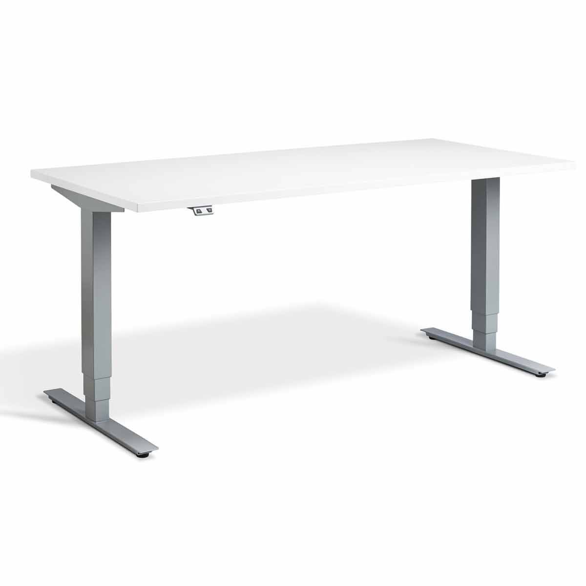 Lavoro Advance Dual Motor Height Adjustment Desk Silver Frame 1200 x 800