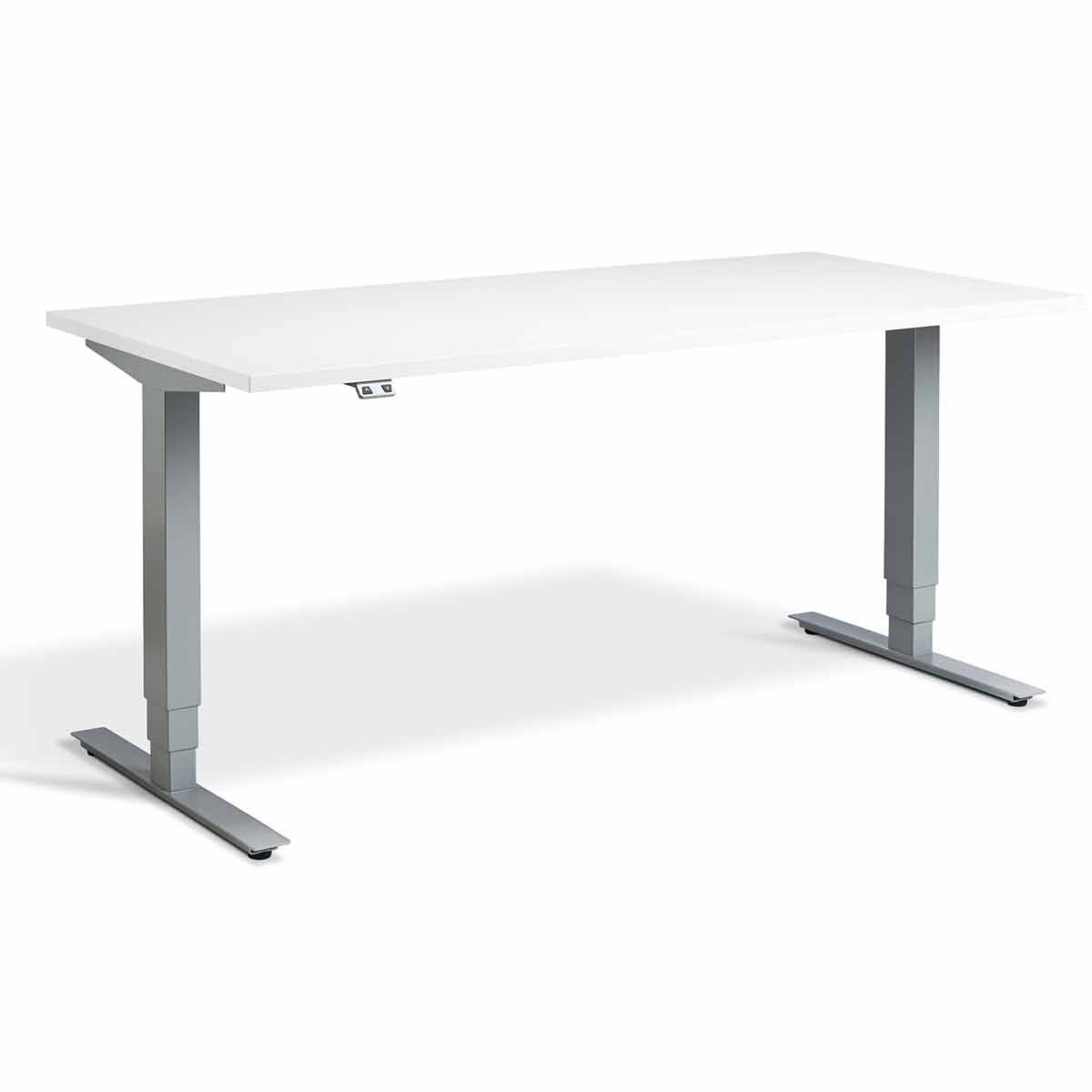 Lavoro Advance Dual Motor Height Adjustment Desk Silver Frame 1400 x 800
