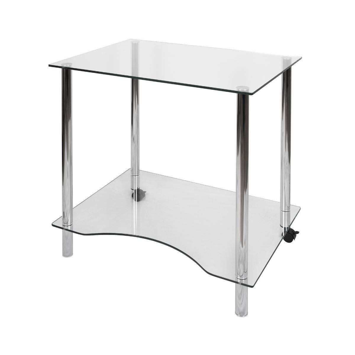Teknik Office Crystal Glass Workstation Space Saving