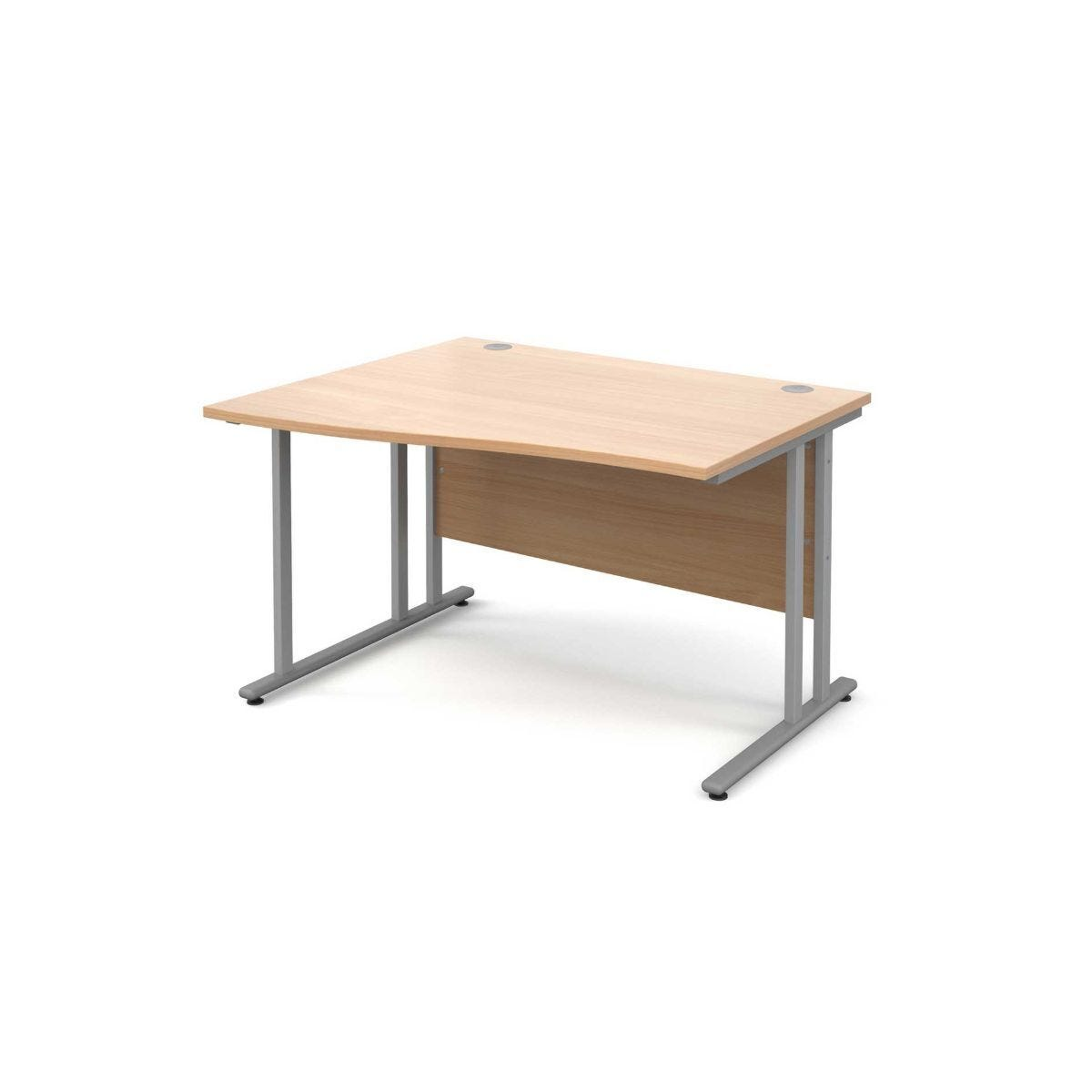 Maestro 25 Left Hand Wave 1200 Desk with Silver Legs