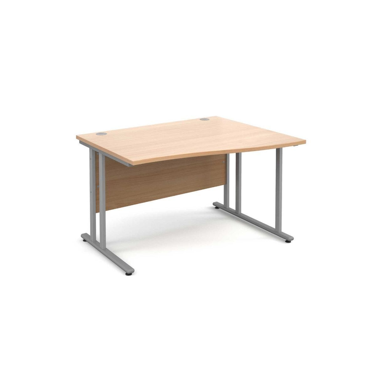 Maestro 25 Right Hand Wave 1200 Desk with Silver Legs
