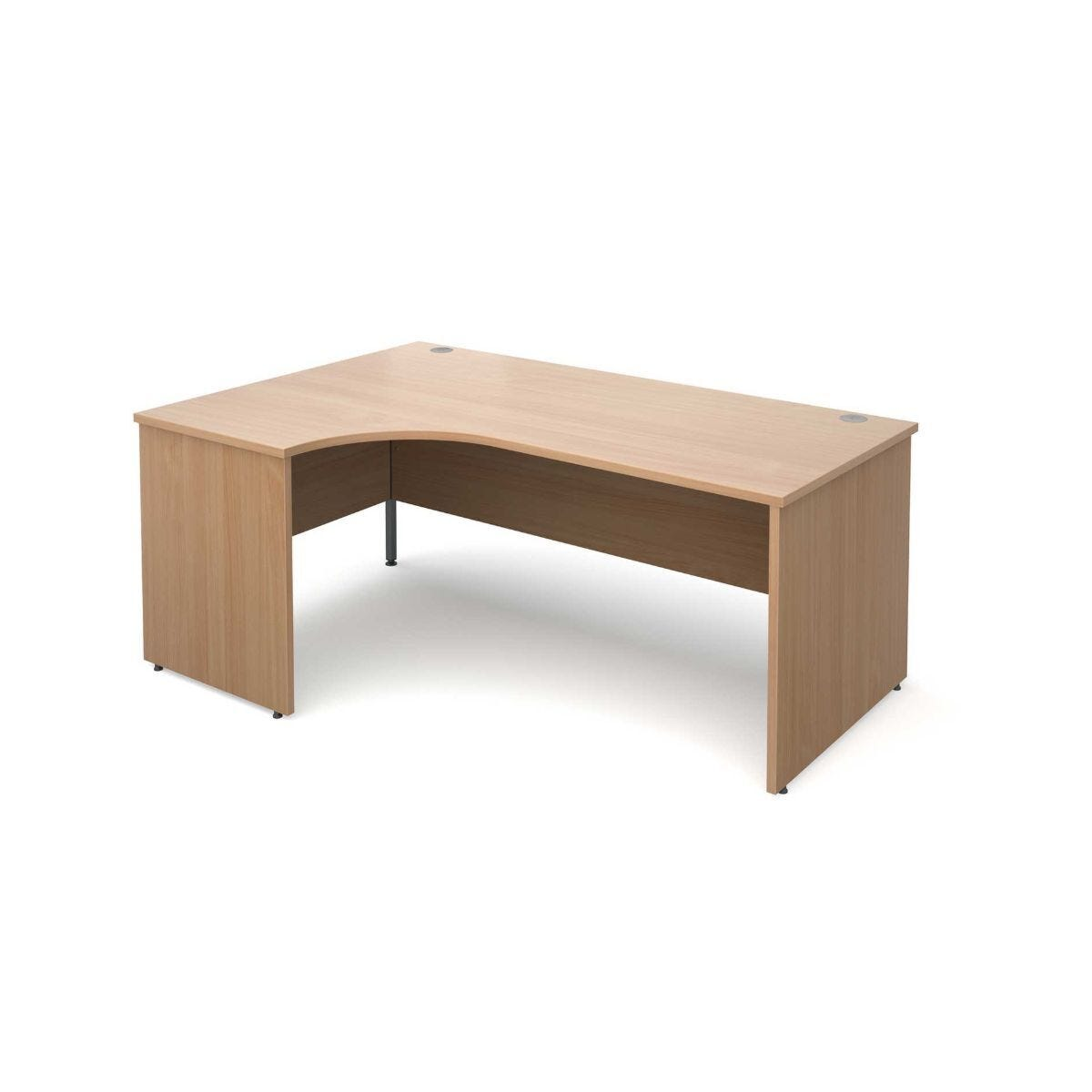 Maestro 25 Left Hand Ergonomic 1800 Desk with End Panel Beech