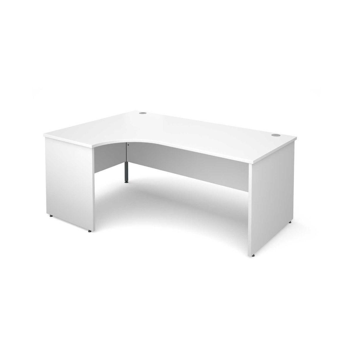 Maestro 25 Left Hand Ergonomic 1800 Desk with End Panel White