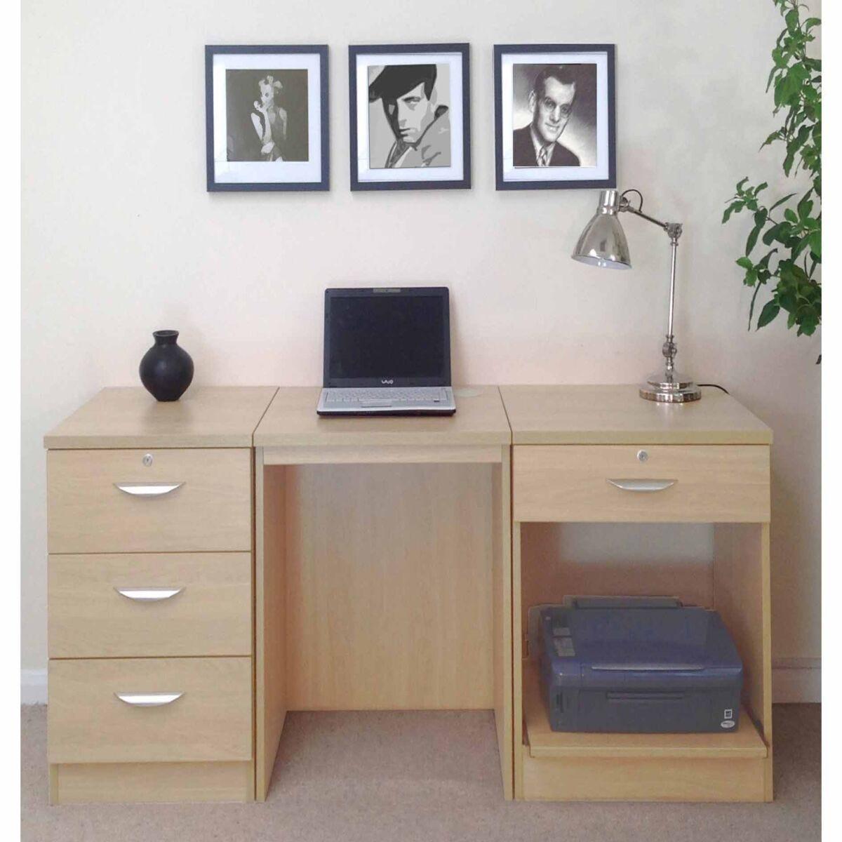 R White Home Office Furniture Desk Set