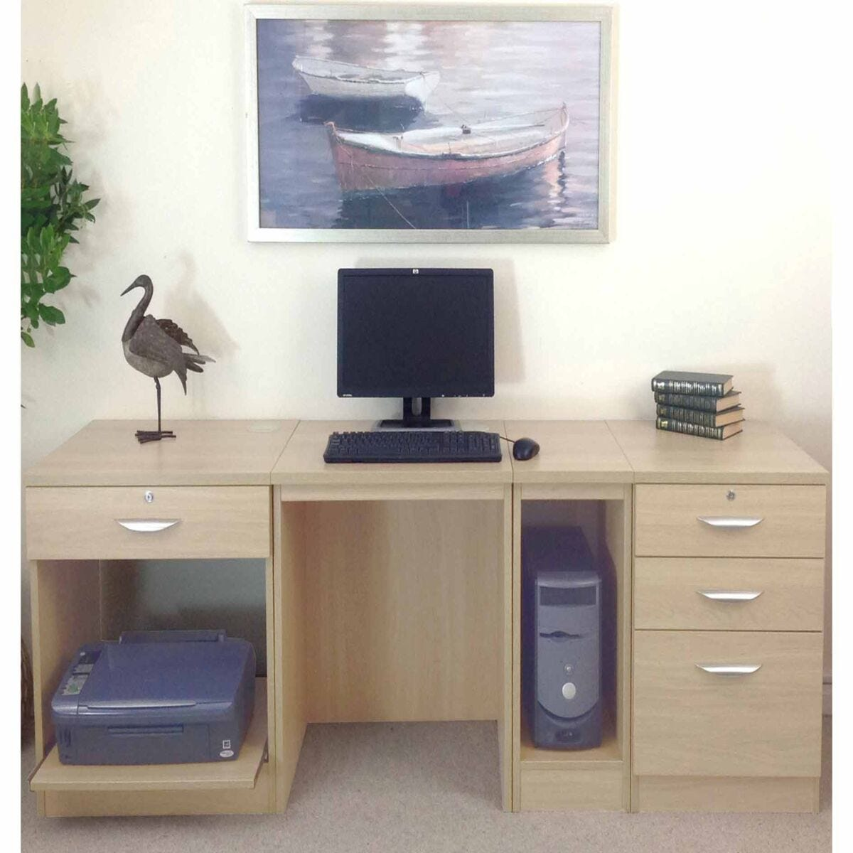 R White Home Office Wide Desk
