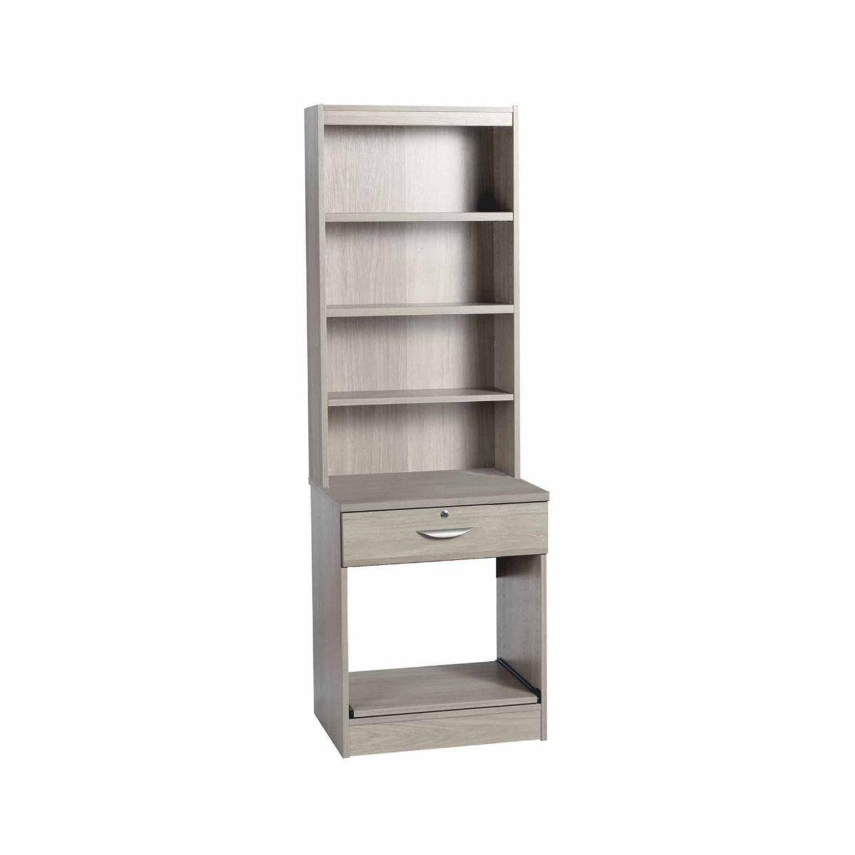 R White Printer Desk Unit with Overshelving Grey Nebraska