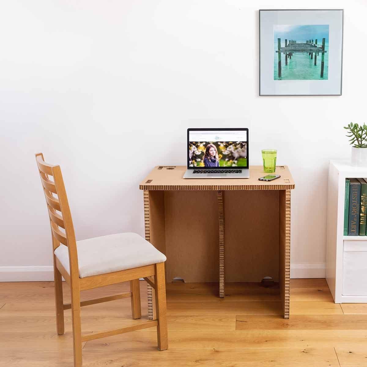 The Paper Hive Pop Up Cardboard Desk 800 x 600mm