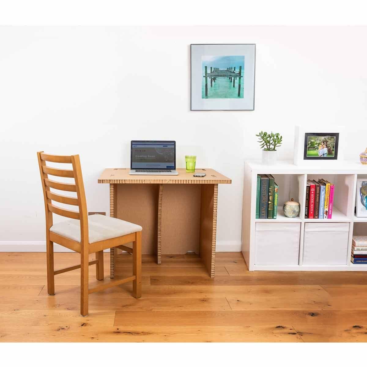 The Paper Hive Pop Up Cardboard Desk Adult Large