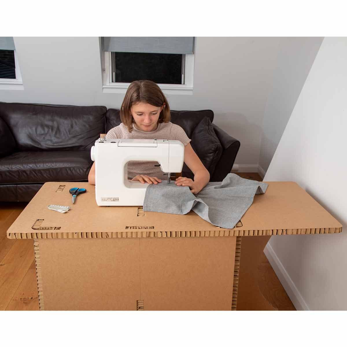 The Paper Hive Pop Up Cardboard Sewing and Crafting Table