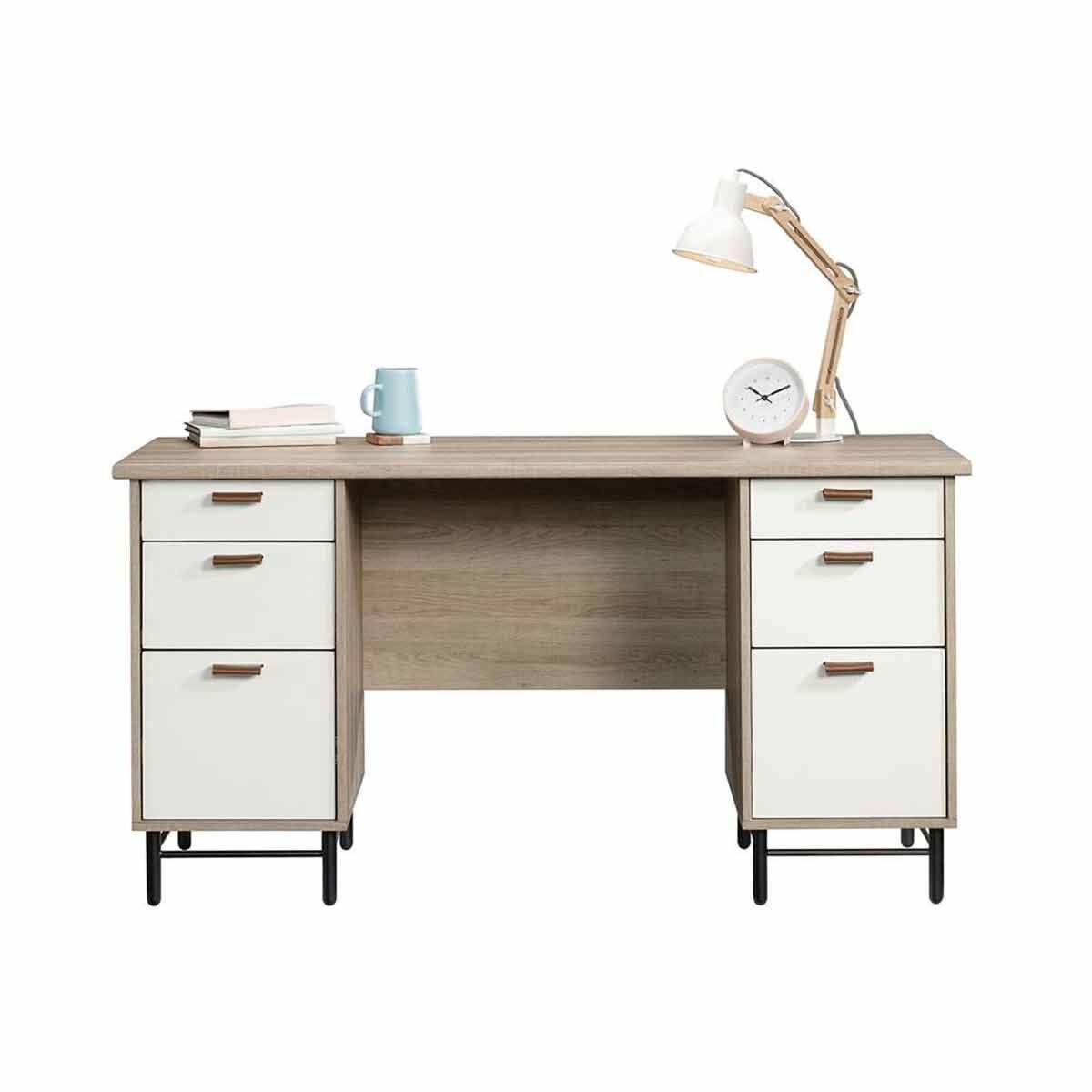 Teknik Office Avon Leather Handled Desk