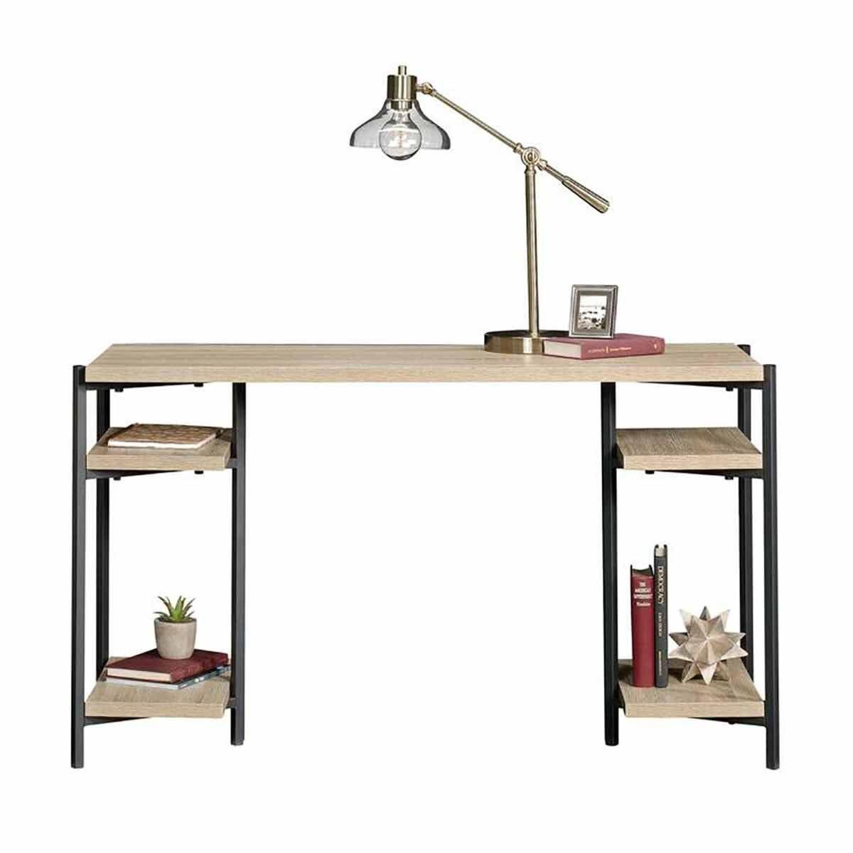 Teknik Office Industrial Style Chunky Desk Oak
