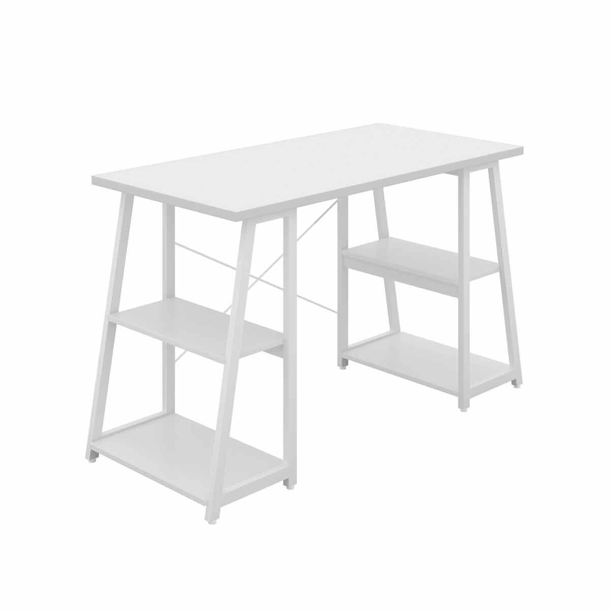 TC Office SOHO Home Working Desk with A-Frame Shelves