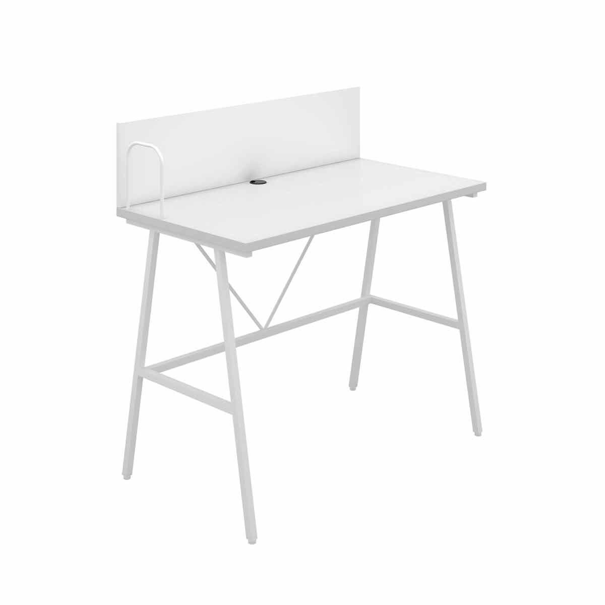 TC Office SOHO Home Working A-Frame Desk with Backboard