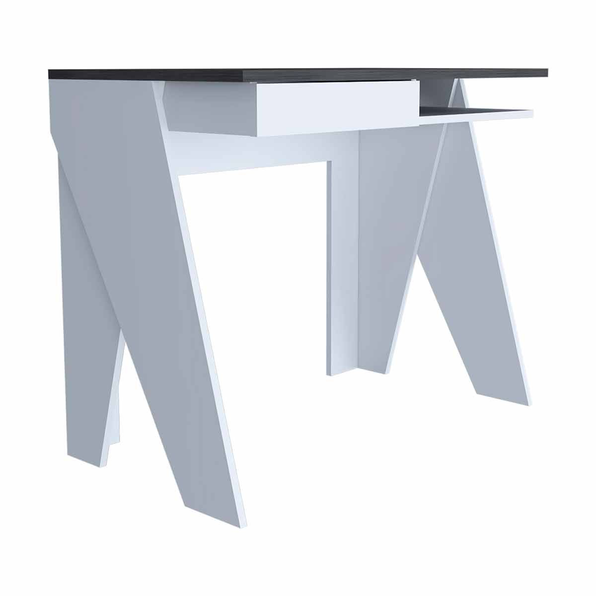 Dallas Two Tone Home Office Desk with Drawer