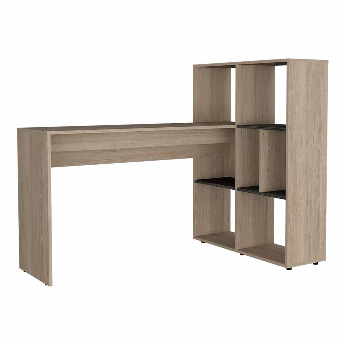 Harvard Two Tone Corner Desk with Storage Unit