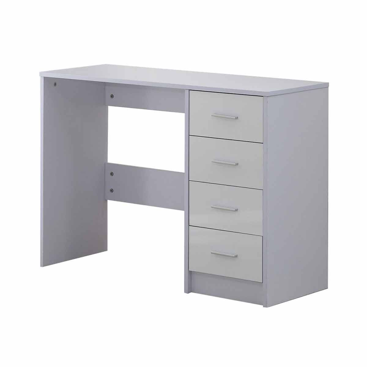 Artemis High Gloss Desk with 4 Drawers