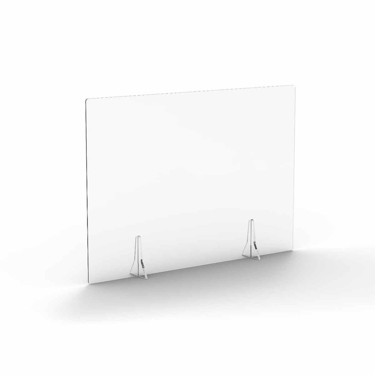 TC Office Clear Free Standing Acrylic Screen 1000mm X 700mm