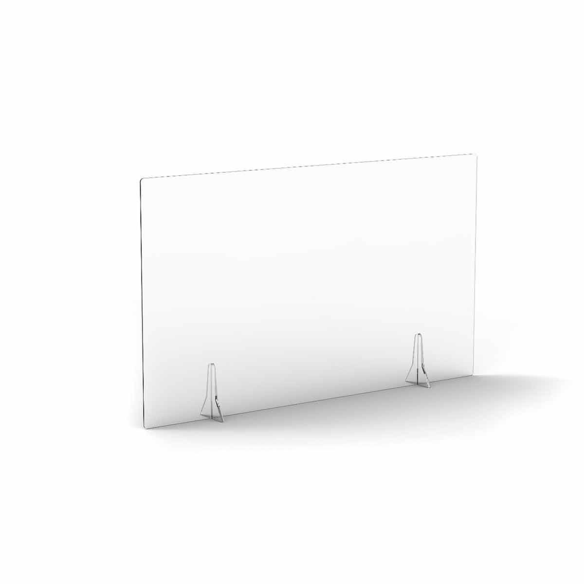 TC Office Clear Free Standing Acrylic Screen 1200mm X 700mm
