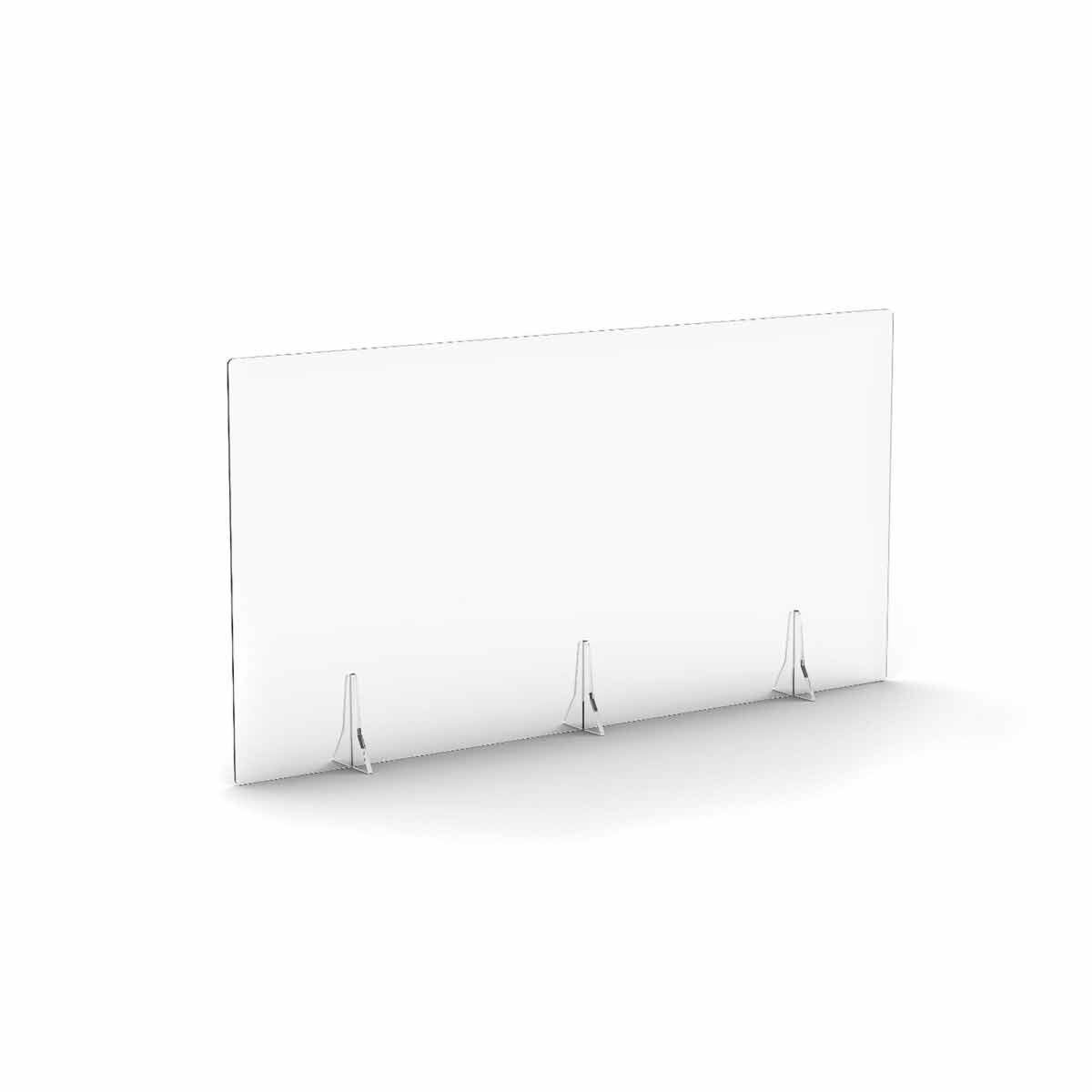 TC Office Clear Free Standing Acrylic Screen 1400mm X 700mm