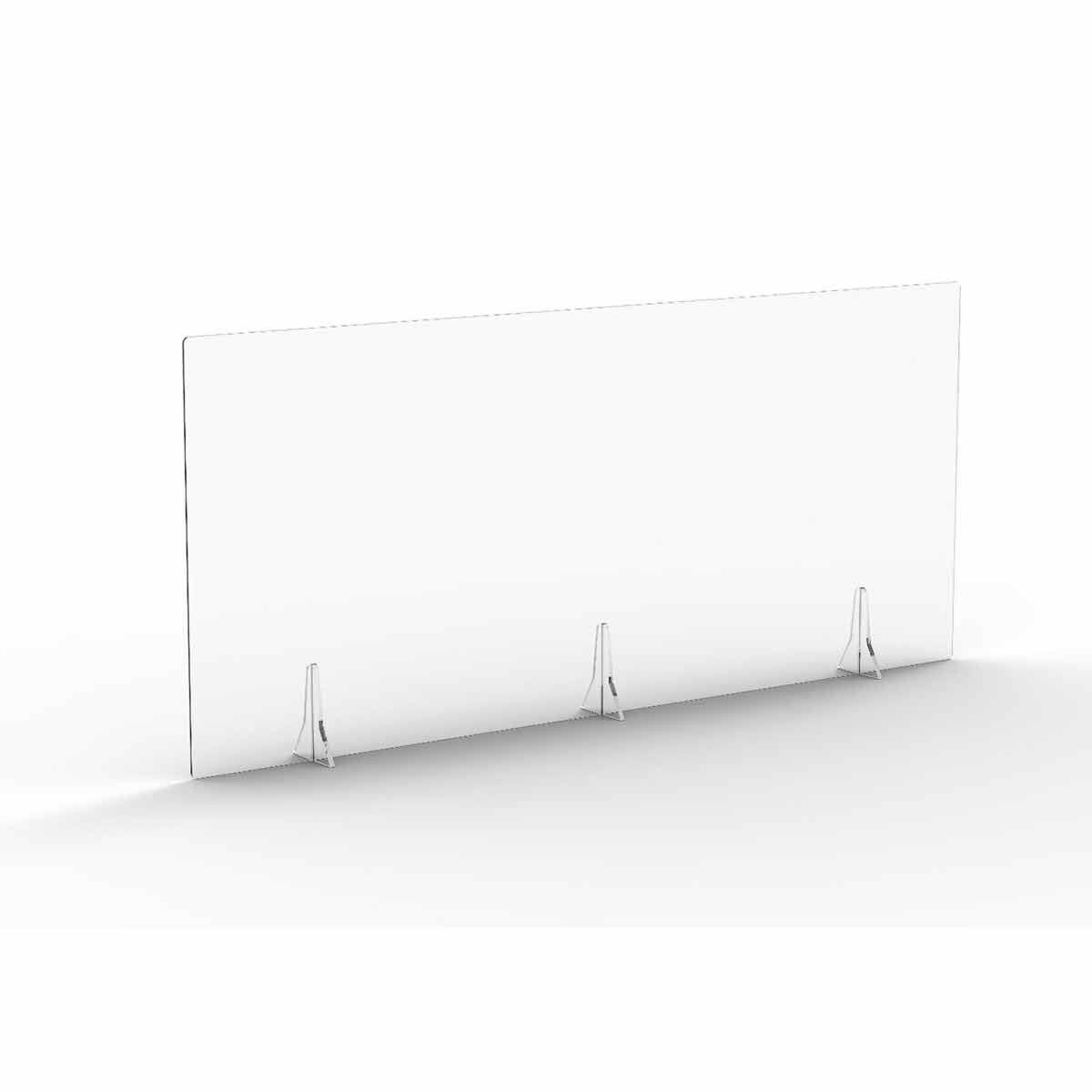 TC Office Clear Free Standing Acrylic Screen 1600mm X 700mm
