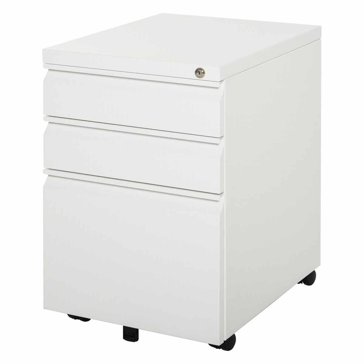 Verity Lockable Mobile Filing Cabinet with 3 Drawers