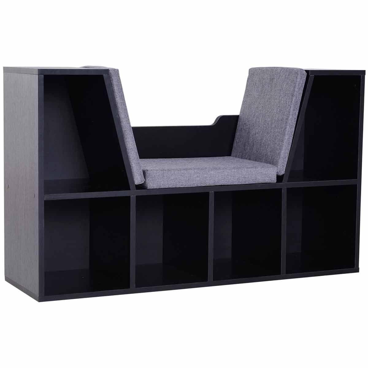 Nash Reading Seat with Storage Black