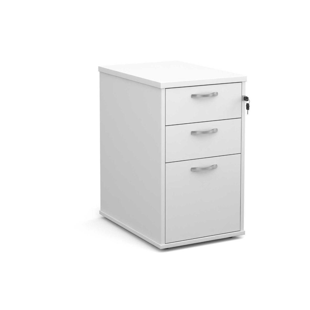 Desk High 3 Drawer Pedestal 600mm White